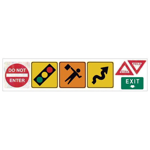 4 Walls Traffic Signs Freestyle Wall Decal