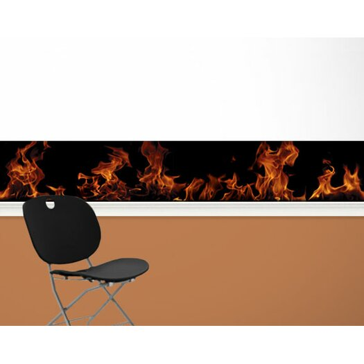 """4 Walls Fired Up 13.5' x 9"""" Scenic Border Wallpaper"""