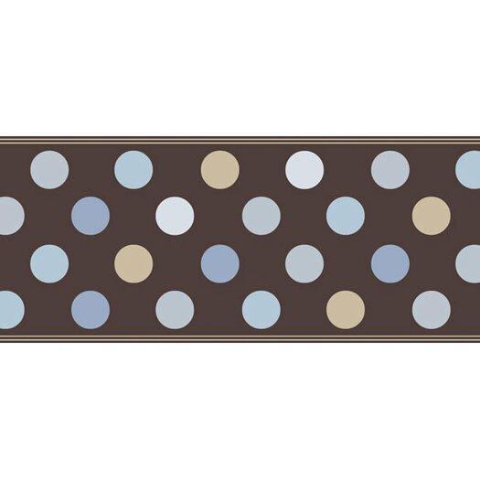 """4 Walls Candy 15' x 9"""" Polka Dot Border Wallpaper"""