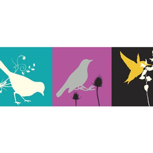 "4 Walls 15' x 9"" Birds Border Wallpaper"