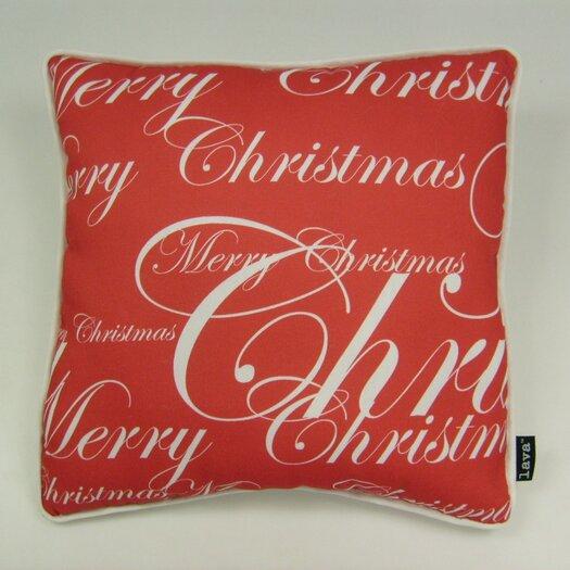 lava Lava All Over Merry Christmas Throw Pillow