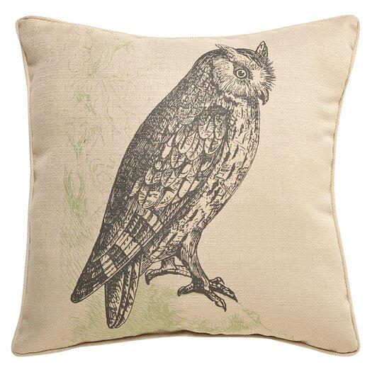 lava Lava Owl Etching  Throw Pillow