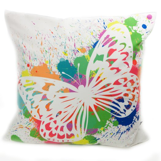 lava Butterfly Splash Throw Pillow