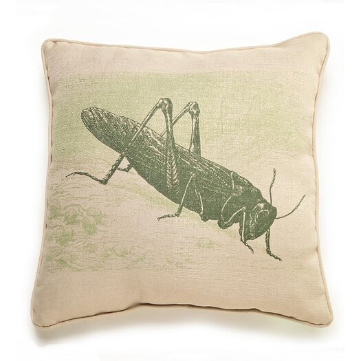 lava Lava Grasshopper Etching Throw Pillow