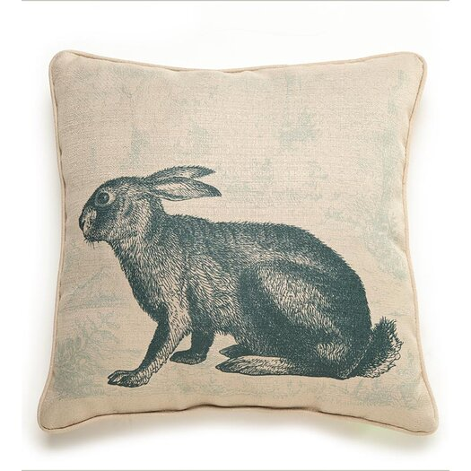 lava Lava Rabbit Etching Throw Pillow