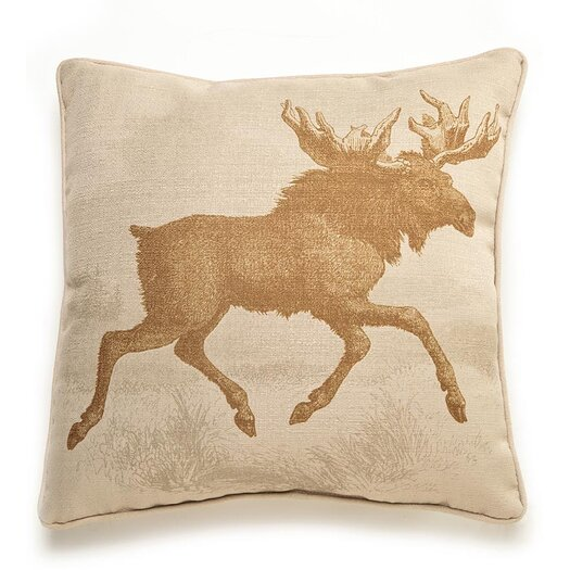 lava Lava Moose Etching Throw Pillow