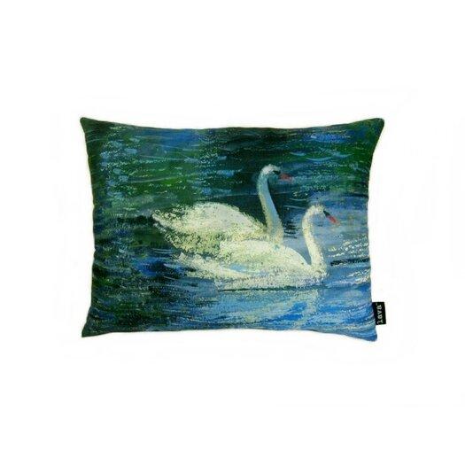 lava Swans  Throw Pillow