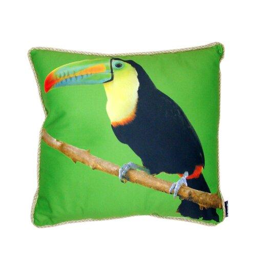 lava Toucan Throw Pillow
