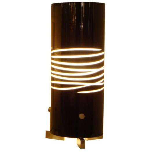 "Oggetti Dune Due 12.5"" H Table Lamp with Drum Shade"