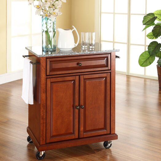Crosley Cuisine Kitchen Cart with Granite Top