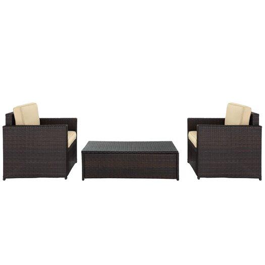 Crosley Palm Harbor 3 Piece Deep Seating Group with Cushions