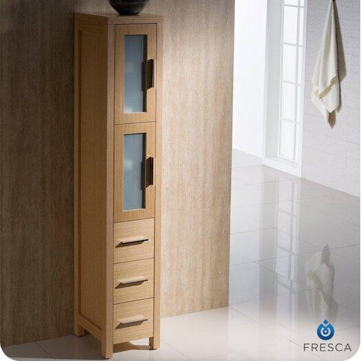 "Fresca Bari Torino 12"" x 68"" Bathroom Linen Side Cabinet"