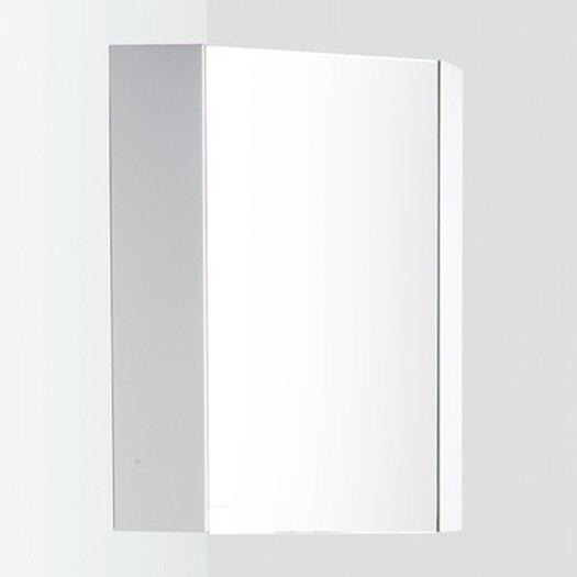 "Fresca Coda 14"" x 23.5"" Corner Mount Medicine Cabinet"