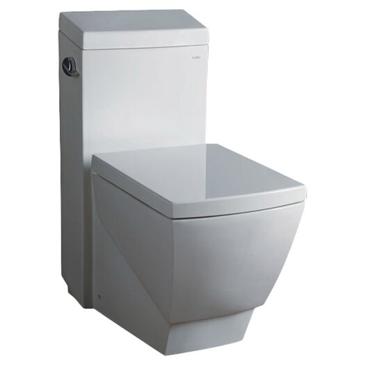Apus Square 1.6 GPF Elongated 1 Piece Toilet with Soft Close Seat Product Photo
