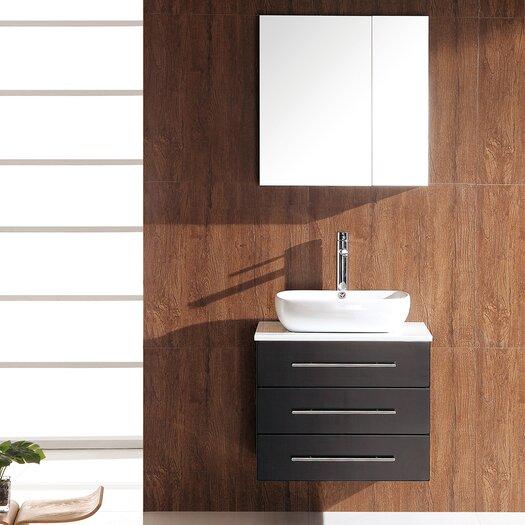 """Fresca Stella 24"""" Single Modella Modern Bathroom Vanity Set with Mirror"""