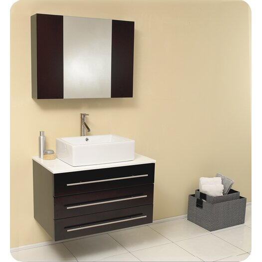 "Fresca Stella 32"" Single Modello Modern Bathroom Vanity Set"