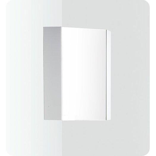 "Fresca Coda 18"" x 23.5"" Corner Mount Medicine Cabinet"