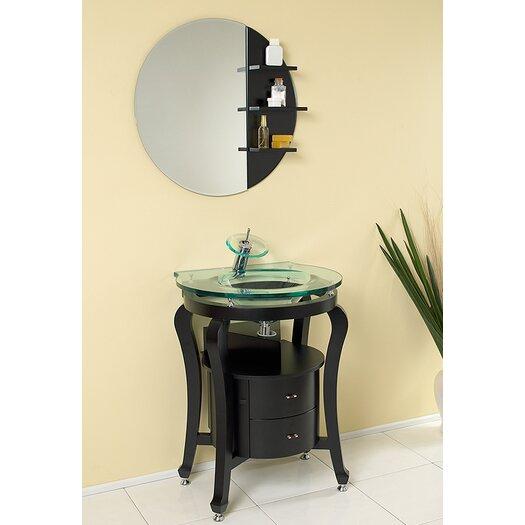 """Fresca Classico 26"""" Single Simpatico Modern Bathroom Vanity Set with Mirror"""
