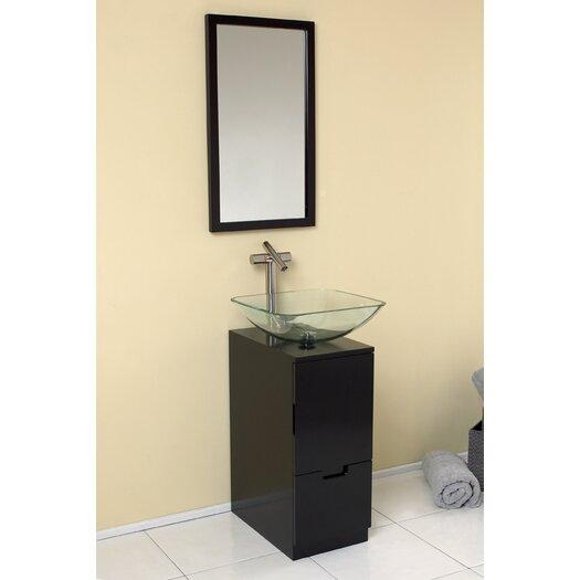 "Fresca Stella 17"" Single Brilliante Modern Bathroom Vanity Set"