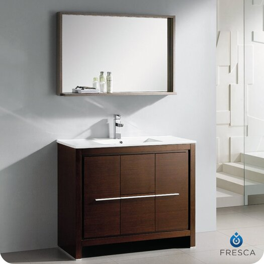 "Fresca Allier 40"" Single Modern Bathroom Vanity Set with Mirror"