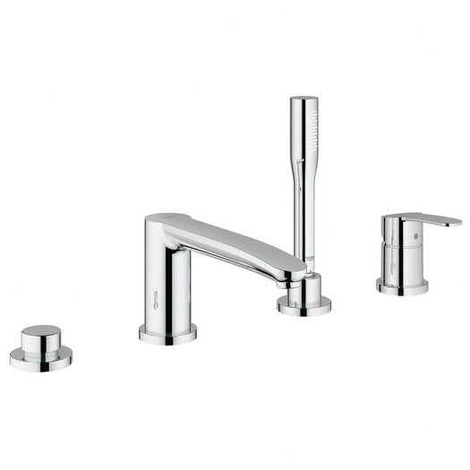Grohe Eurostyle Two Handle Deck Mounted Roman Tub Faucet with Hand Shower