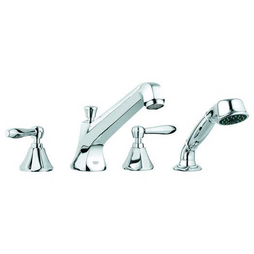 Grohe Somerset Two Handle Deck Mounted Roman Tub Filler with Handshower