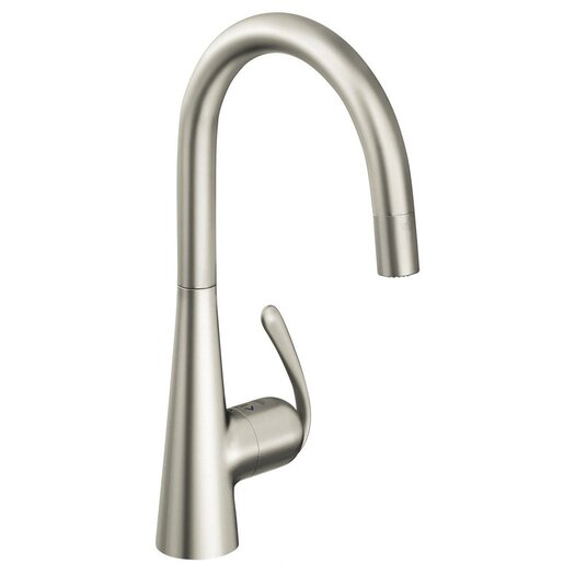 Grohe Ladylux Single Handle Single Hole Standard Kitchen Faucet with Water Care