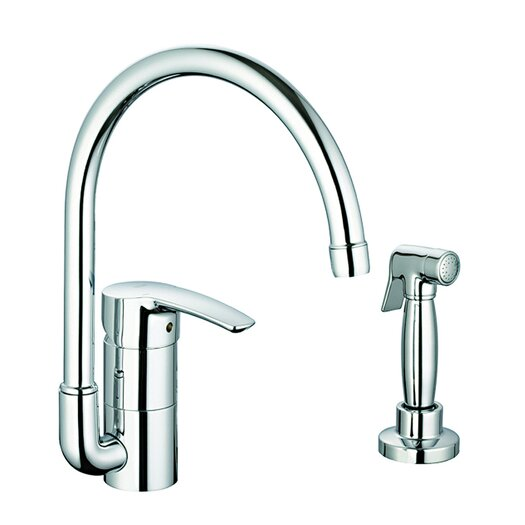 Grohe Eurostyle Single Handle Single Hole Standard Kitchen Faucet with Side Spray with Water Care