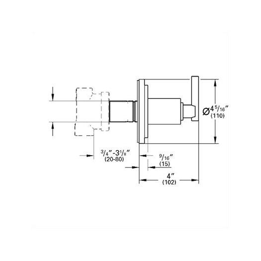 Grohe Atrio 5 Port Diverter Faucet Trim with Lever Handle