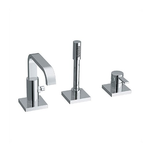 Grohe Allure Single Handle Deck Mount Roman Tub Faucetn with Hand Shower