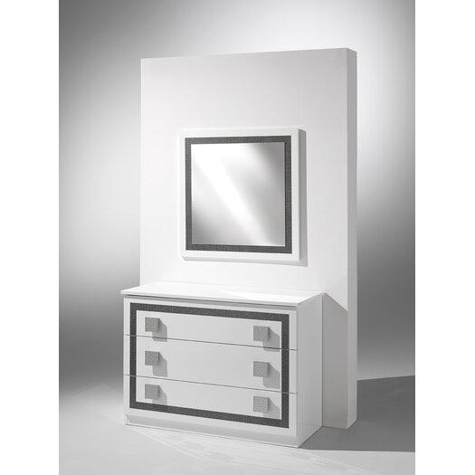 Virgo 3 Drawer Dresser with Mirror