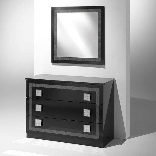 Austin 3 Drawer Dresser with Mirror