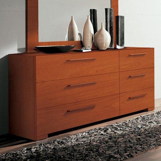 YumanMod Wynd 6 Drawer Double Dresser