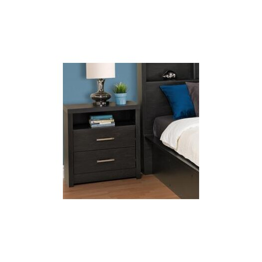 Prepac District 2 Drawer Nightstand