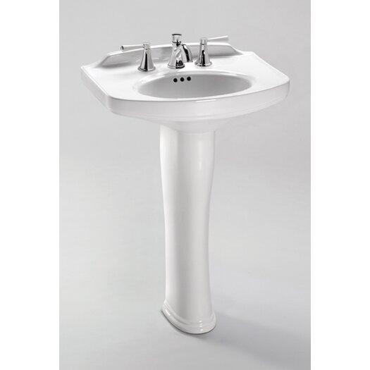 "Toto Dartmouth 24.25"" Pedestal Bathroom Sink"