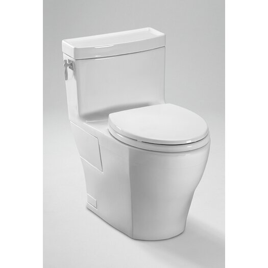 Aimes High Efficiency 1.28 GPF Elongated 1 Piece Toilet with Sanagloss Product Photo