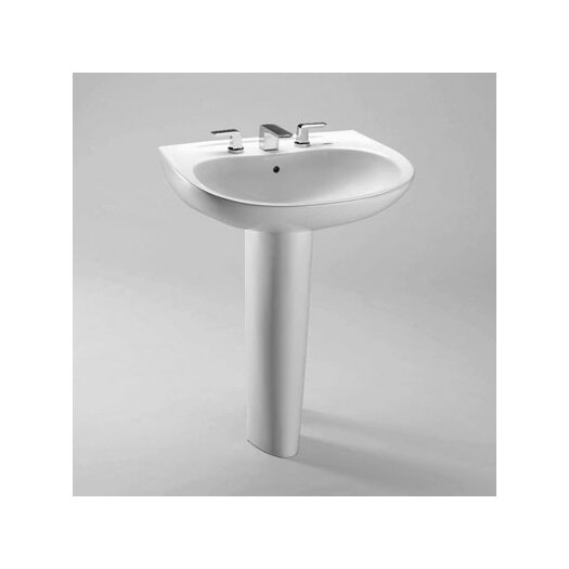 """Toto Prominence 26"""" Pedestal Bathroom Sink with Sanagloss"""