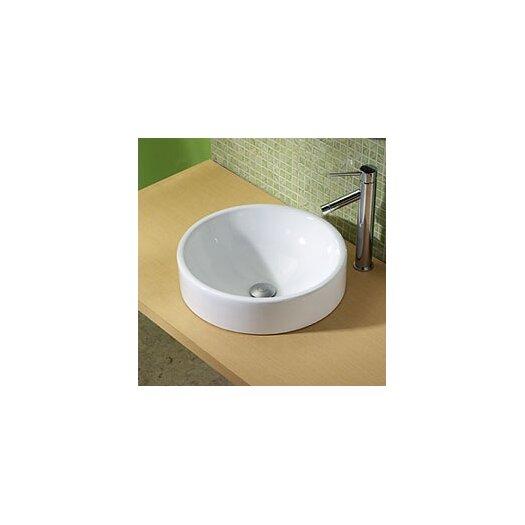 DECOLAV Classically Redefined Round Ceramic Vessel Bathroom Sink
