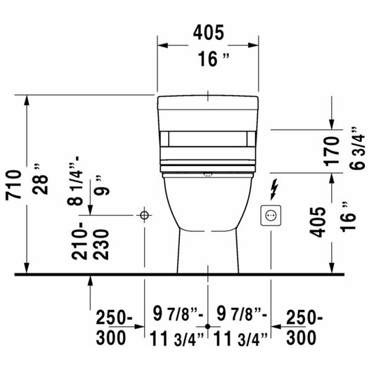 Duravit Darling New Elongated 1 Piece Toilet