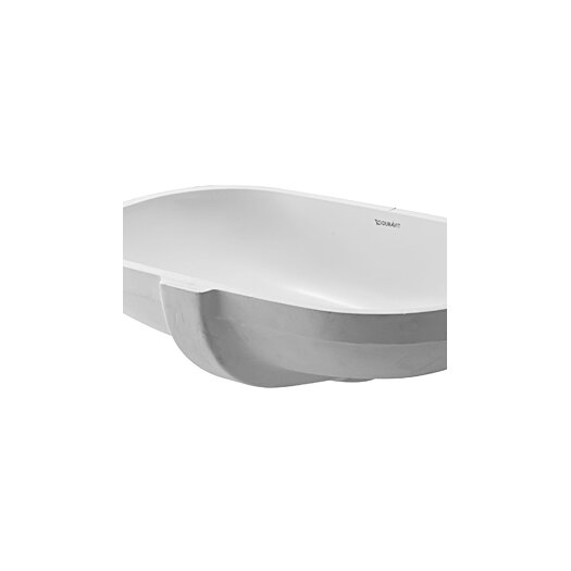 Duravit D-Code Undercounter Bathroom Sink with Overflow