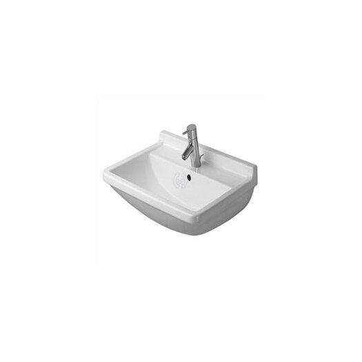 Duravit Starck 3 Top Platform Pedestal Bathroom Sink Set with Overflow