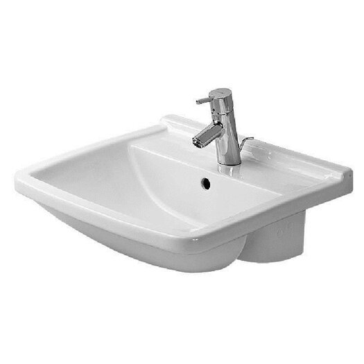 Duravit Starck 3 Semi Recessed Bathroom Sink