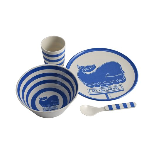 All You Can Eat Mealtime 4 Piece Dinnerware Set