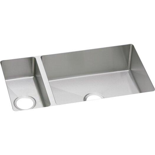"Elkay Avado 32.25"" x 18.25"" Double-Multi Sized Bowl Undermount Kitchen Sink"