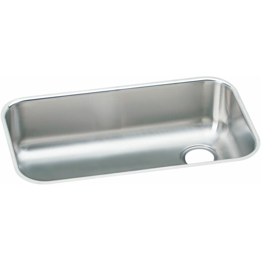 "Elkay Elumina 30.5"" x 18.25"" Gourmet 18 Gauge Drain in Right Corner Single Bowl Kitchen Sink"
