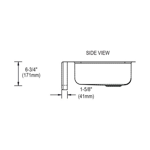 "Elkay Lustertone 33"" x 20.5"" Undermount Single Bowl Kitchen Sink"