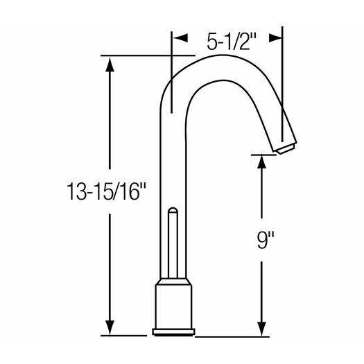 Elkay Ella Single Handle Deck Mount Kitchen Sink Faucet