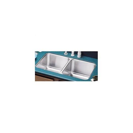 "Elkay Lustertone 31.75"" x 16.5"" Double Bowl Undermount Kitchen Sink"