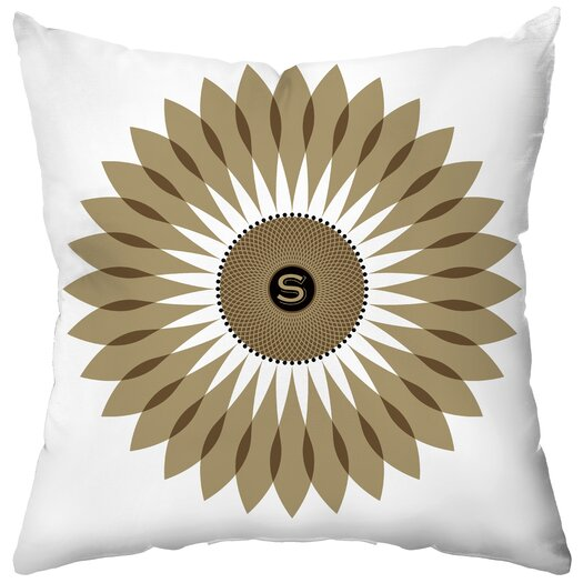 Checkerboard, Ltd Personalized Sunflower Seeds Throw Pillow