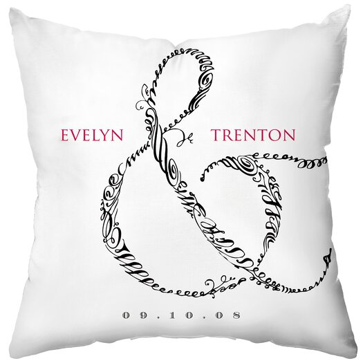 Checkerboard, Ltd Personalized Entwined Throw Pillow